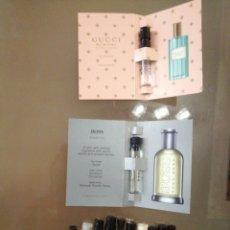 Miniaturas de perfumes antiguos: LOTE 12 MUESTRAS PRUEBA PERFUMES 1AS MARCAS. Lote 244790315