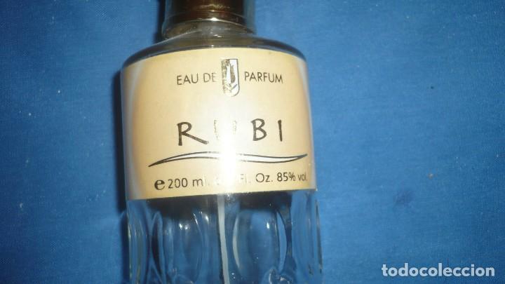 Miniaturas de perfumes antiguos: Frasco perfume RUBI Eau de parfum (vacio) - Foto 2 - 187590282