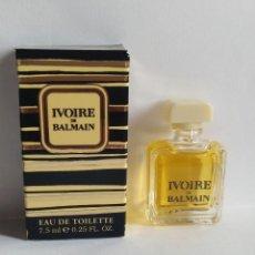 Miniaturas de perfumes antiguos: MINIATURA DE PERFUME IVOIRE DE BALMAIN. Lote 203772097