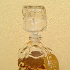 Miniaturas de perfumes antiguos: MUY ESCASA Y ANTIGUA BOTELLA CRISTAL COLONIA ROYAL DE LABORATORIOS SAPHIR ZARAGOZA, 350 ML.. Lote 192927472