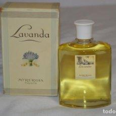 Miniaturas de perfumes antiguos: MUY ANTIGUO, VINTAGE -- LAVANDA -- MYRURGIA REF. 516 / 200 ML. CON CAJA MADE IN SPAIN ¡MIRA!. Lote 193558883