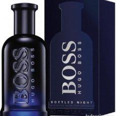 Miniaturas de perfumes antiguos: BOTE FRASCO VACIO COLONIA PERFUME HUGO BOSS NIGTH ORIGINAL CON CAJA NUEVO PARA COLECCIONISTAS!!!!. Lote 194097152