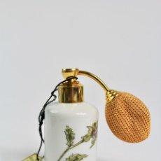 Miniaturas de perfumes antiguos: PERFUMERO DE PORCELANA DE LIMOGES. SXX. CON DIFUSOR.. Lote 194290290