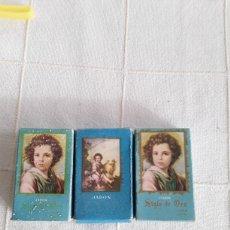 Miniaturas de perfumes antiguos: 3 CAJAS DE JABON PEQUEÑAS SIGLO DE ORO DE VERA. Lote 194366332