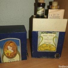 Miniaturas de perfumes antiguos: ANTIGUA CAJA CON 2 BOTELLAS AGUA RADIUM. Lote 194550920