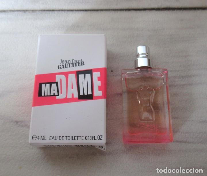 Miniaturas de perfumes antiguos: Miniatura MADAME de Jean Paul Gaultier EDT 4ml Rara. Descatalogada - Foto 2 - 194591121