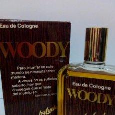 Miniaturas de perfumes antiguos: COLONIA WOODY BY LUCKY 100 ML. Lote 194687976