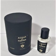 Miniaturas de perfumes antiguos: NOVEDAD 2019 !!! MINIATURA ACQUA DI PARMA SIGNATURES OF THE SUN CAMELIA EDP 5 ML. Lote 194782090