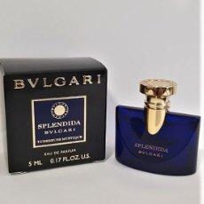 Miniaturas de perfumes antiguos: NOVEDAD 2019 !!! MINIATURA BVLGARI SPLENDIDA TUBEREUSE MYSTIQUE EDP 5 ML. Lote 194782387