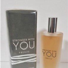 Miniaturas de perfumes antiguos: NOVEDAD 2020 !!! MINIATURA EMPORIO ARMANI STRONGER FREEZE -EDICIÓN DE VIAJE- EDP 15 ML. Lote 194783085