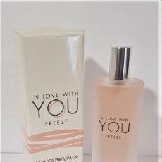 Miniaturas de perfumes antiguos: NOVEDAD 2020 !!! MINIATURA EMPORIO ARMANI IN LOVE WITH YOU FREEZE -EDICIÓN DE VIAJE- EDP 15 ML. Lote 194783196