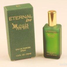 Miniaturas de perfumes antiguos: MINIATURA ETERNAL LOVE PARFUMS X LOUIS FOR MEN EDP 10 ML. Lote 194884801