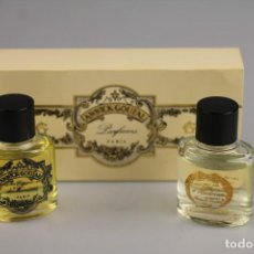 Miniaturas de perfumes antiguos: DUO MINIATURAS ANNICK GOUTAL EAU D´HADRIEN + EAU MONSIEUR -VINTAGE- ( LEER). Lote 194885873