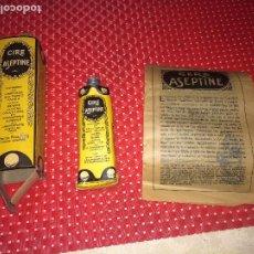 Miniaturas de perfumes antiguos: CIRE ASEPTINE - PARA LA BELLEZA DEL CUTIS - AÑOS 30 - TUBO SIN USAR - CON PROSPECTO. Lote 194904403