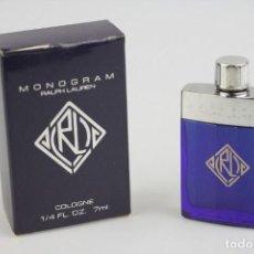 Miniaturas de perfumes antiguos: MINIATURA RALPH LAUREN MONOGRAM - VINTAGE - C 7 ML. Lote 194906028
