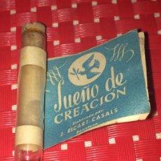 Miniaturas de perfumes antiguos: SUEÑO DE CREACION - J. RICART CASALS - BARCELONA - MUESTRA COLONIA - AÑOS 30/40. Lote 194910773