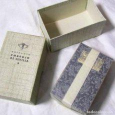 Miniaturas de perfumes antiguos: EXTRACTO MYRURGIA EMBRUJO DE SEVILLA Nº 827 ESTUCHE + CAJA EMBALADA. Lote 195047585
