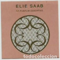 Miniaturas de perfumes antiguos: ELIE SAAB -TARJETA DE PERFUME - OLOR . Lote 195092238