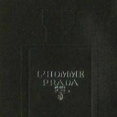 Miniaturas de perfumes antiguos: PRADA - L´HOMME INTENSE - TARJETA PERFUME - OLOR. Lote 195092308