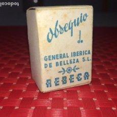 Miniaturas de perfumes antiguos: OBSEQUIO DE GENERAL IBÉRICA DE BELLEZA, S.L. - REBECA - VALENCIA. Lote 195098655