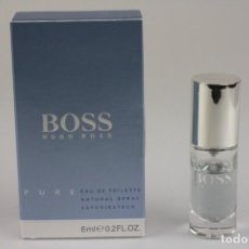 Miniaturas de perfumes antiguos: MINIATURA HUGO BOSS BOSS PURE EDT 6 ML . Lote 195128756