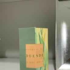 Miniaturas de perfumes antiguos: ESENCIA DUENDE JESUS DEL POZO EDT NUEVA SIN USAR 30ML SPRAY. Lote 195175723