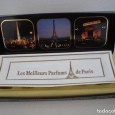 Miniaturas de perfumes antiguos: CAJITA DE MINIATURAS DE PERFUMES. Lote 195240930