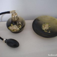 Miniaturas de perfumes antiguos: ANTIGUO PULVERIZADOR DE COLONIA O PERFUME.. Lote 195242532