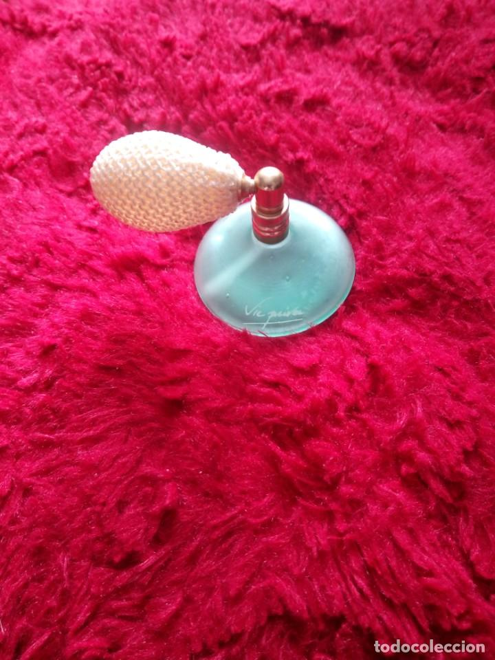 Miniaturas de perfumes antiguos: Precioso perfumero de cristal con pera.vie privee - Foto 2 - 195357226