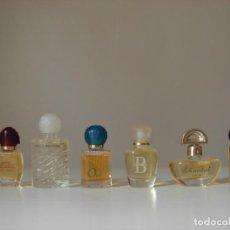 Miniaturas de perfumes antiguos: MINIATURAS DE PERFUME: BACHS, OUI, CHANTAL, EAU DE ROCHAS..... Lote 195422641