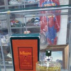 Miniaturas de perfumes antiguos: FRASCO CASI COMPLETO COLONIA EN SPRAY 100 ML. BELLISSIMO UOMO PARIS. Lote 195546241