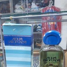 Miniaturas de perfumes antiguos: FRASCO COMPLETO AGUA PROFUNDA DE PARERA 180 ML. EN CAJA. Lote 195546716