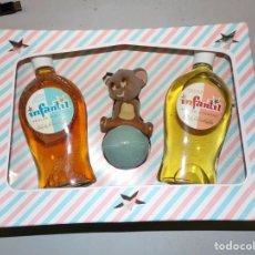 Échantillons de parfums anciens: INFANTIL COLONIA JABON LIQUIDO PERLAS CUBANAS NUEVO. Lote 195770142