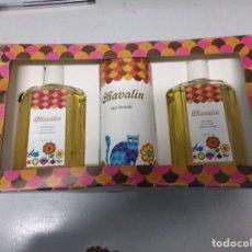 Miniaturas de perfumes antiguos: CHAVALIN COLONIA TALCO NUEVO. Lote 195971111