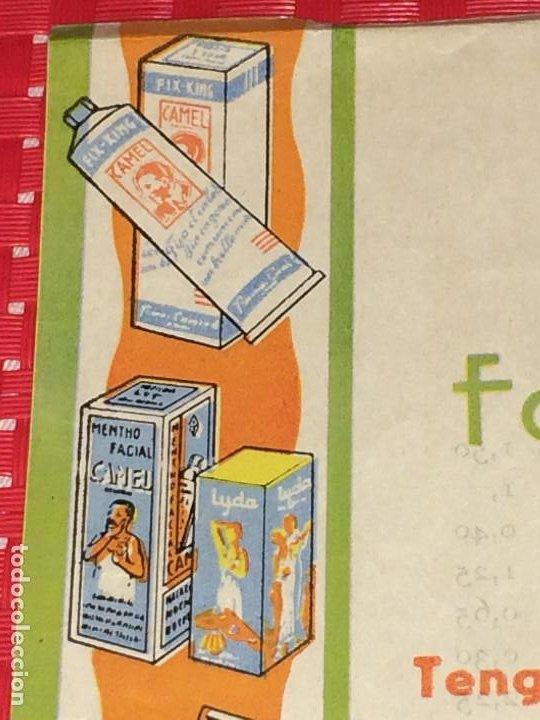 Miniaturas de perfumes antiguos: FABRICA DE PERFUMERÍA J. ARAUJO - CAMEL Y LYDA - PONTEVEDRA - PRECIOS Y CONDICIONES - AÑOS 40 - Foto 2 - 197087336