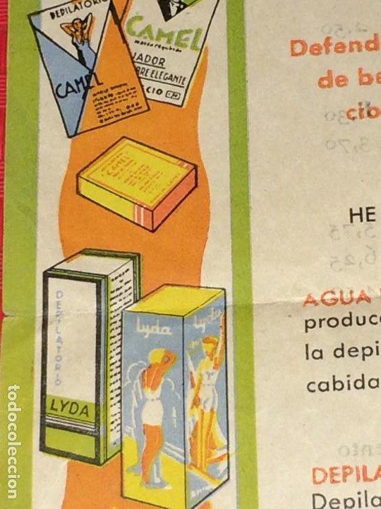 Miniaturas de perfumes antiguos: FABRICA DE PERFUMERÍA J. ARAUJO - CAMEL Y LYDA - PONTEVEDRA - PRECIOS Y CONDICIONES - AÑOS 40 - Foto 3 - 197087336