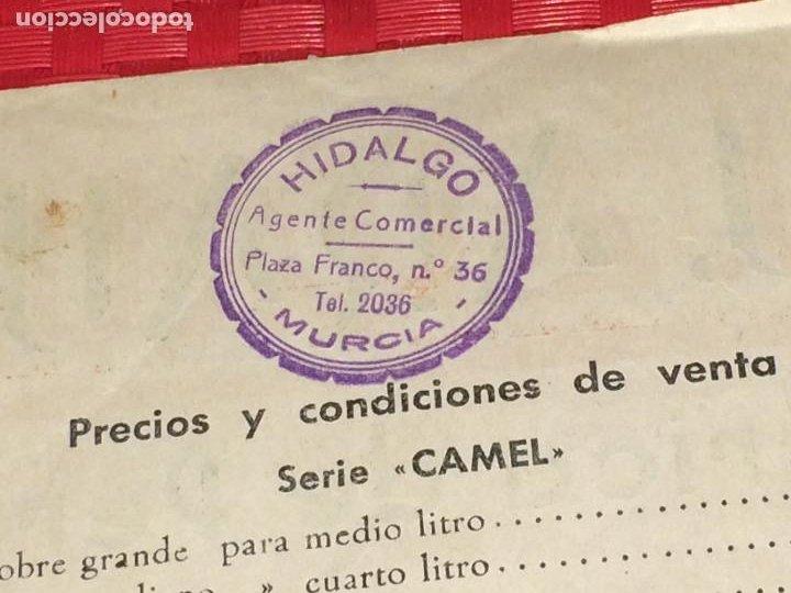Miniaturas de perfumes antiguos: FABRICA DE PERFUMERÍA J. ARAUJO - CAMEL Y LYDA - PONTEVEDRA - PRECIOS Y CONDICIONES - AÑOS 40 - Foto 5 - 197087336
