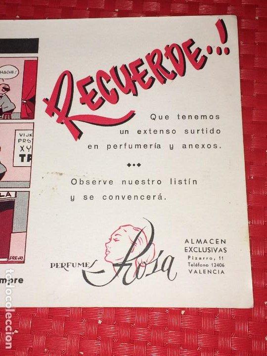 Miniaturas de perfumes antiguos: PERFUMES ROSA - VALENCIA - PAPEL SECANTE - AÑOS 40 - Foto 3 - 197089602