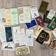 Miniaturas de perfumes antiguos: COLECCIÓN LOTE DE MUESTRAS DE GEL, PRODUCTOS BELLEZA AÑOS 80 DIFERENTES PAÍSES. Lote 199300130