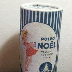 Miniaturas de perfumes antiguos: BOTE DE POLVOS TALCO POLVO NOEL ANTIGUO. Lote 202962050