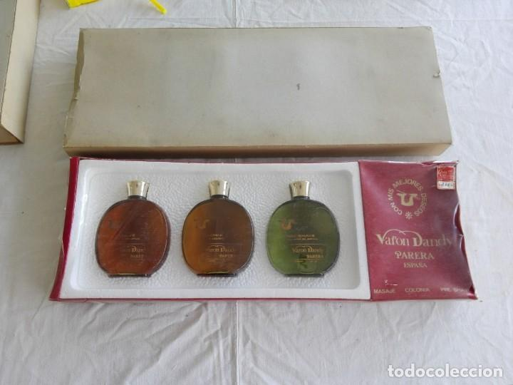 Miniaturas de perfumes antiguos: estuche muy antiguo de Varon Dandy. Parera España. - Foto 3 - 203280877