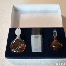 Miniaturas de perfumes antiguos: ESTUCHE CON 3 MINIATURAS DE PERFUME PARFUMS TED LAPIDUS PARIS.. Lote 203877523