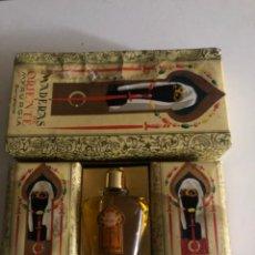 Miniaturas de perfumes antigos: MYRURGIA MADERAS DE ORIENTE ESTUCHE CON BOTELLA DE PERFUME TOCADOR Y 2 PASTILLAS DE JABÓN. Lote 204686503