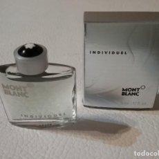 Miniaturas de perfumes antiguos: MINIATURA DE EAU DE TOILETTE INDIVIDUEL MONTBLANC PARIS.. Lote 204723558