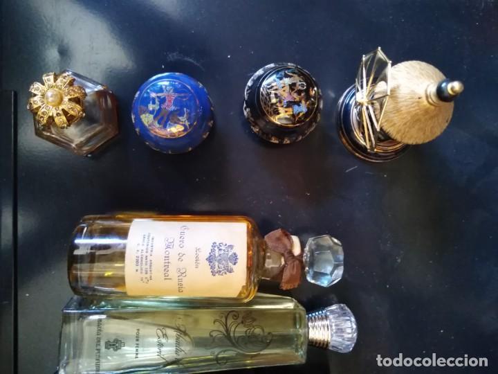 Miniaturas de perfumes antiguos: PERFUMES 8 BOTELLAS DE DIFERENTES TAMAÑOS COLONIA MY LORD EXTRA RUSIA MONTREAL - Foto 6 - 205573052