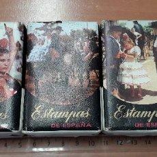 Miniaturas de perfumes antiguos: 17-00196-197-198 -PACK PASTILLAS JABON ESTAMPAS DE ESPAÑA. Lote 205609138