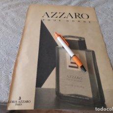 Miniaturas de perfumes antiguos: COLONIA PARA HOMBRE AZZARO PARIS ANUNCIO PUBLICIDAD REVISTA 1989. Lote 207088566