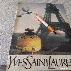 Miniaturas de perfumes antiguos: PERFUME MUJER YVES SAINT LAURENT PARÍS ANUNCIO PUBLICIDAD REVISTA 1989. Lote 207090745