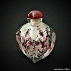 Miniaturas de perfumes antiguos: PERFUMERO. CRISTAL PINTADO INTERIOR. CHINA. SIGLO XX. Lote 207098956
