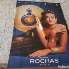 Miniaturas de perfumes antiguos: PERFUME MUJER BYZANCE ROCHAS ANUNCIO PUBLICIDAD REVISTA 1989. Lote 207106447